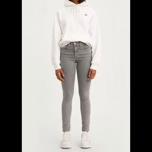 Levi's High Rise Grey Skinny Jeans 27